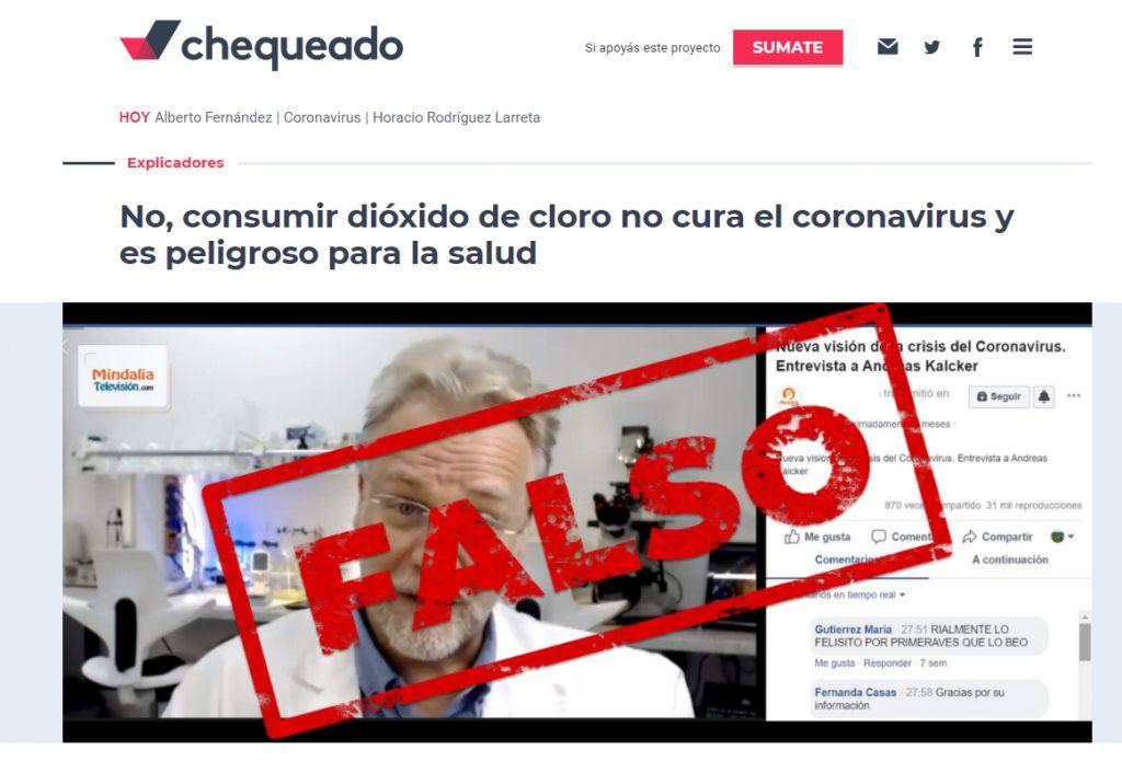 chequeado falso